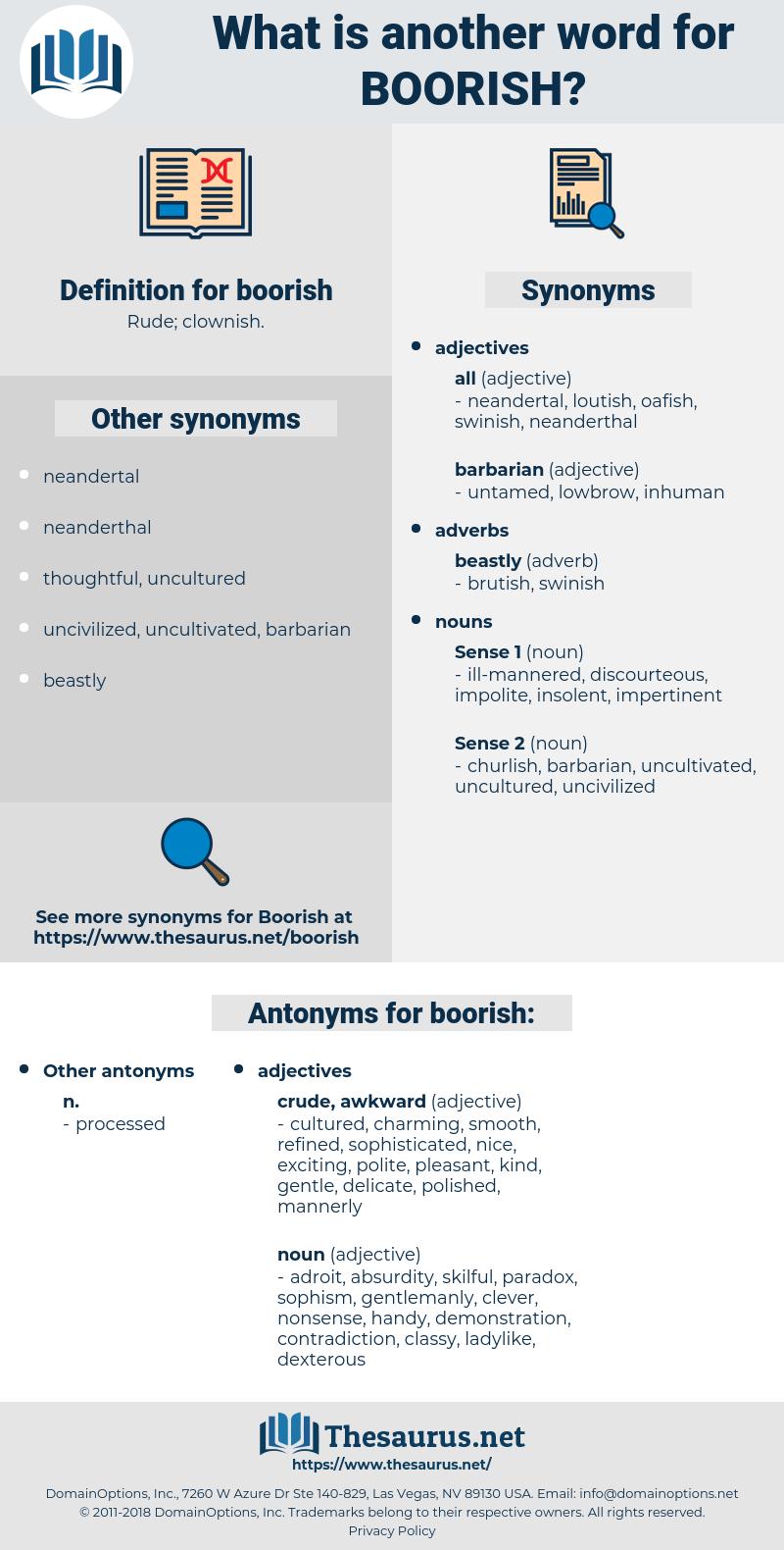 boorish, synonym boorish, another word for boorish, words like boorish, thesaurus boorish