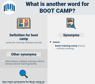 boot camp, synonym boot camp, another word for boot camp, words like boot camp, thesaurus boot camp