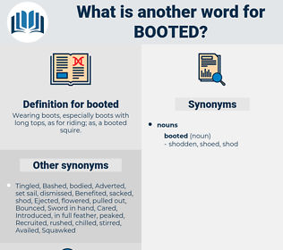 booted, synonym booted, another word for booted, words like booted, thesaurus booted