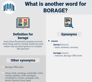borage, synonym borage, another word for borage, words like borage, thesaurus borage
