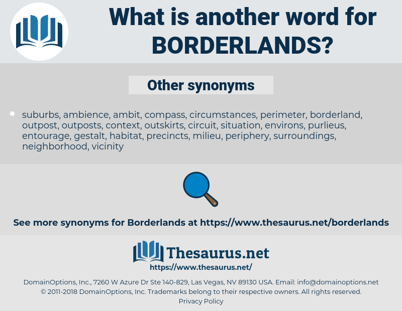 borderlands, synonym borderlands, another word for borderlands, words like borderlands, thesaurus borderlands