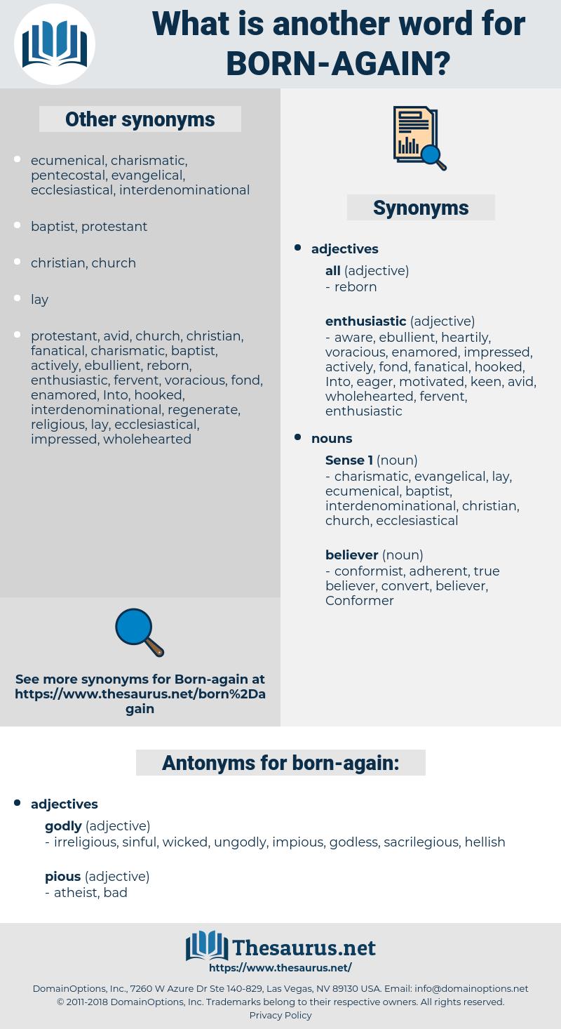 born-again, synonym born-again, another word for born-again, words like born-again, thesaurus born-again