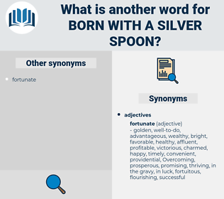 born with a silver spoon, synonym born with a silver spoon, another word for born with a silver spoon, words like born with a silver spoon, thesaurus born with a silver spoon