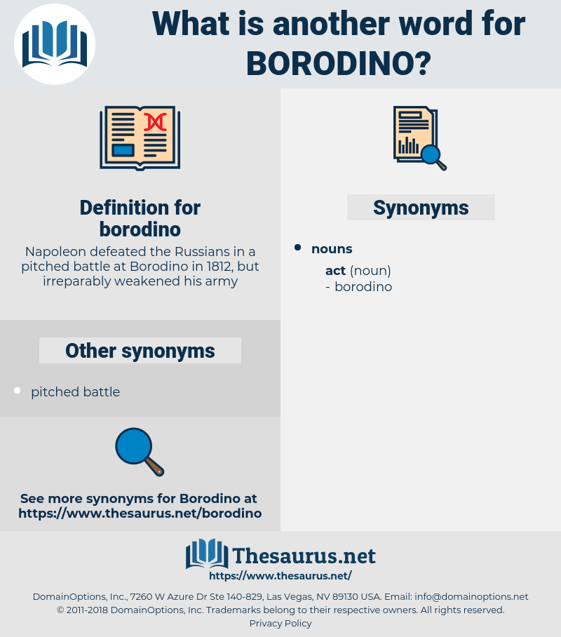 borodino, synonym borodino, another word for borodino, words like borodino, thesaurus borodino