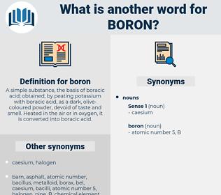 boron, synonym boron, another word for boron, words like boron, thesaurus boron