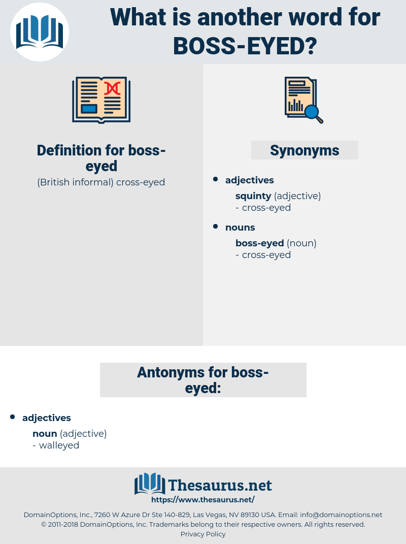 boss-eyed, synonym boss-eyed, another word for boss-eyed, words like boss-eyed, thesaurus boss-eyed
