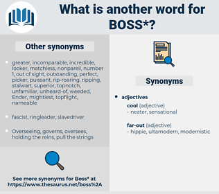 boss, synonym boss, another word for boss, words like boss, thesaurus boss