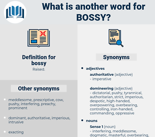 bossy, synonym bossy, another word for bossy, words like bossy, thesaurus bossy