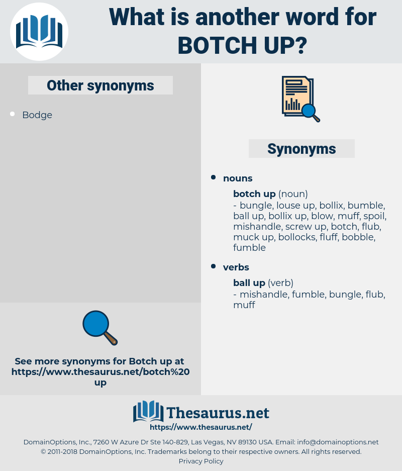 botch up, synonym botch up, another word for botch up, words like botch up, thesaurus botch up