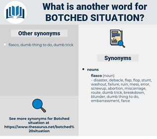 botched situation, synonym botched situation, another word for botched situation, words like botched situation, thesaurus botched situation