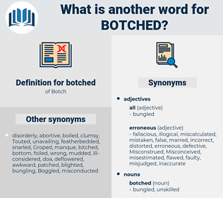 botched, synonym botched, another word for botched, words like botched, thesaurus botched