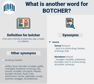 botcher, synonym botcher, another word for botcher, words like botcher, thesaurus botcher