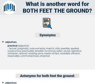 both feet the ground, synonym both feet the ground, another word for both feet the ground, words like both feet the ground, thesaurus both feet the ground