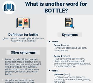 bottle, synonym bottle, another word for bottle, words like bottle, thesaurus bottle