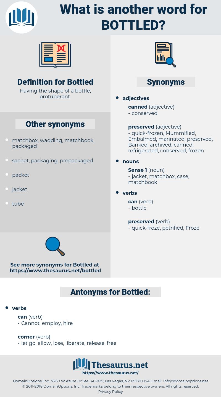 Bottled, synonym Bottled, another word for Bottled, words like Bottled, thesaurus Bottled