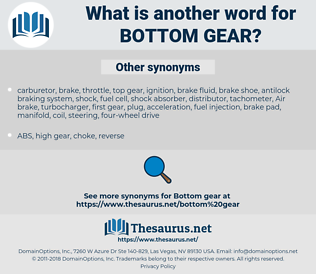 bottom gear, synonym bottom gear, another word for bottom gear, words like bottom gear, thesaurus bottom gear