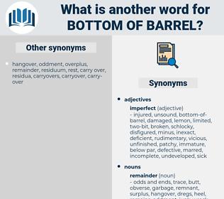 bottom-of-barrel, synonym bottom-of-barrel, another word for bottom-of-barrel, words like bottom-of-barrel, thesaurus bottom-of-barrel
