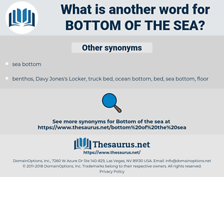 bottom of the sea, synonym bottom of the sea, another word for bottom of the sea, words like bottom of the sea, thesaurus bottom of the sea