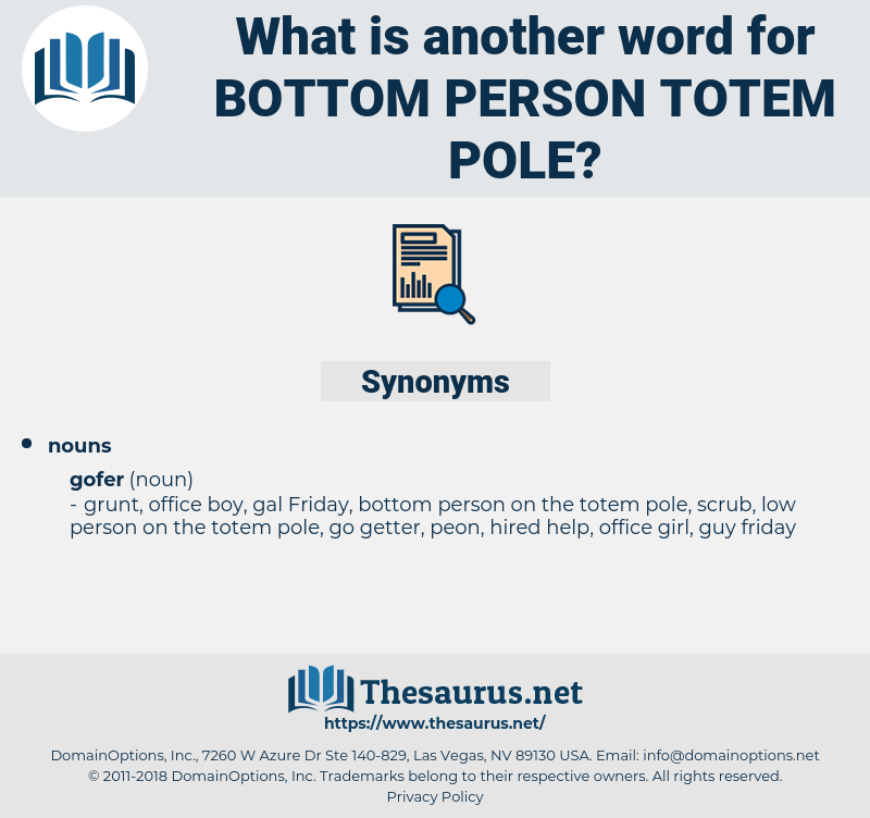 bottom person totem pole, synonym bottom person totem pole, another word for bottom person totem pole, words like bottom person totem pole, thesaurus bottom person totem pole