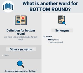 bottom round, synonym bottom round, another word for bottom round, words like bottom round, thesaurus bottom round