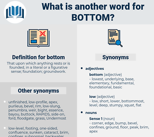 bottom, synonym bottom, another word for bottom, words like bottom, thesaurus bottom
