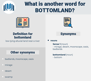 bottomland, synonym bottomland, another word for bottomland, words like bottomland, thesaurus bottomland