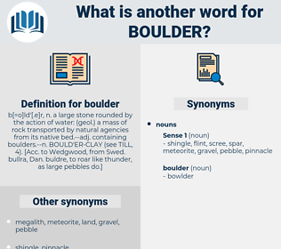boulder, synonym boulder, another word for boulder, words like boulder, thesaurus boulder