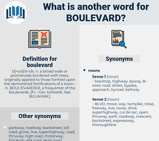 boulevard, synonym boulevard, another word for boulevard, words like boulevard, thesaurus boulevard