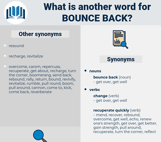 bounce back, synonym bounce back, another word for bounce back, words like bounce back, thesaurus bounce back
