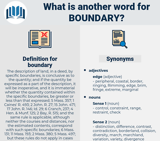 boundary, synonym boundary, another word for boundary, words like boundary, thesaurus boundary