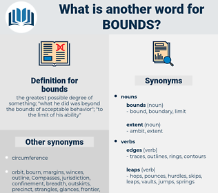 bounds, synonym bounds, another word for bounds, words like bounds, thesaurus bounds