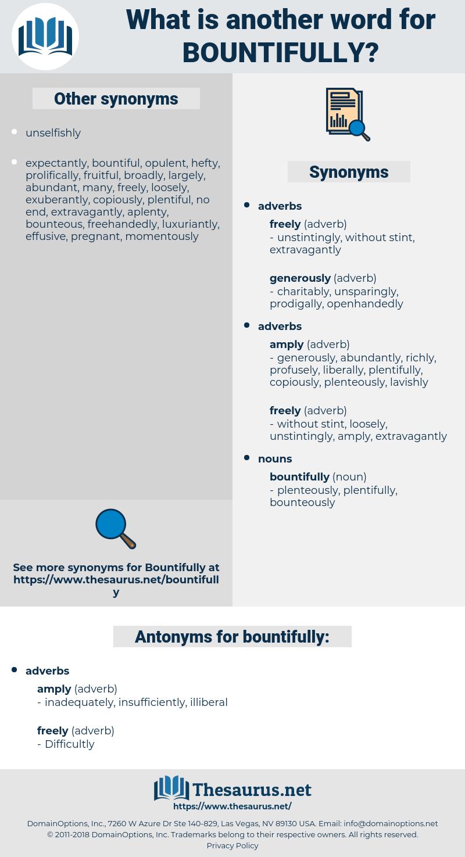 bountifully, synonym bountifully, another word for bountifully, words like bountifully, thesaurus bountifully