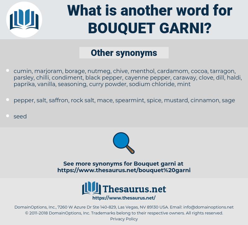 bouquet garni, synonym bouquet garni, another word for bouquet garni, words like bouquet garni, thesaurus bouquet garni