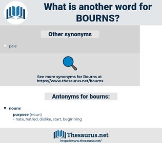 bourns, synonym bourns, another word for bourns, words like bourns, thesaurus bourns
