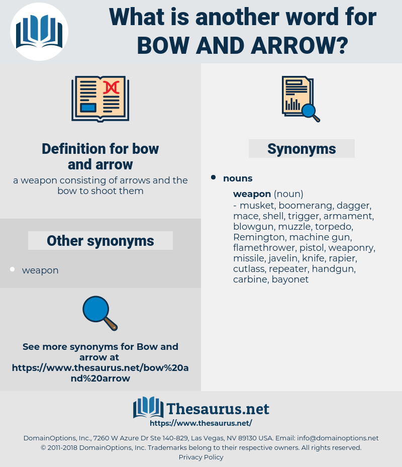 bow and arrow, synonym bow and arrow, another word for bow and arrow, words like bow and arrow, thesaurus bow and arrow