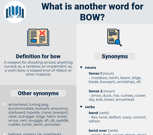 bow, synonym bow, another word for bow, words like bow, thesaurus bow