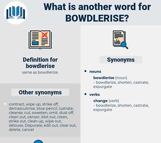 bowdlerise, synonym bowdlerise, another word for bowdlerise, words like bowdlerise, thesaurus bowdlerise