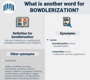 bowdlerization, synonym bowdlerization, another word for bowdlerization, words like bowdlerization, thesaurus bowdlerization