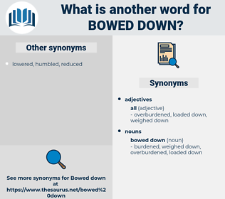 bowed down, synonym bowed down, another word for bowed down, words like bowed down, thesaurus bowed down