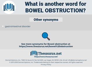 bowel obstruction, synonym bowel obstruction, another word for bowel obstruction, words like bowel obstruction, thesaurus bowel obstruction