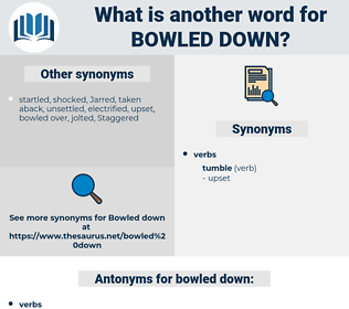 bowled down, synonym bowled down, another word for bowled down, words like bowled down, thesaurus bowled down