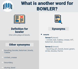 bowler, synonym bowler, another word for bowler, words like bowler, thesaurus bowler