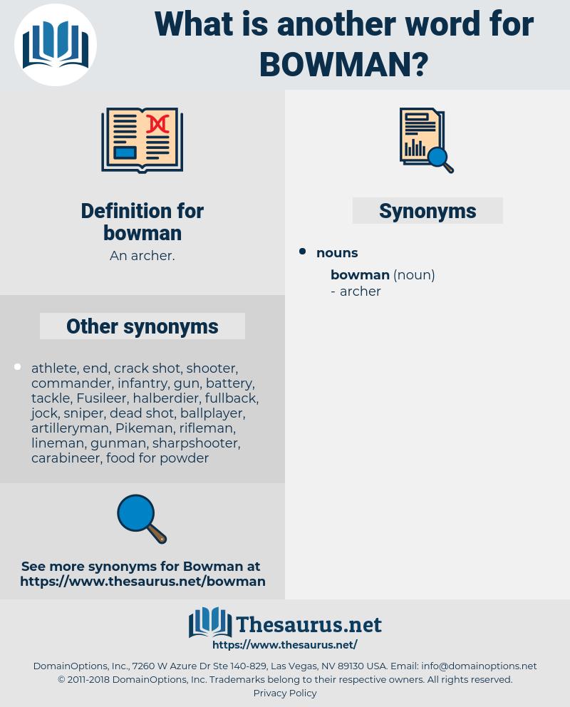 bowman, synonym bowman, another word for bowman, words like bowman, thesaurus bowman
