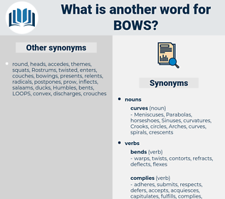 bows, synonym bows, another word for bows, words like bows, thesaurus bows