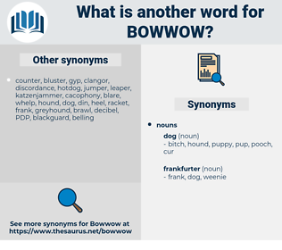 Bowwow, synonym Bowwow, another word for Bowwow, words like Bowwow, thesaurus Bowwow