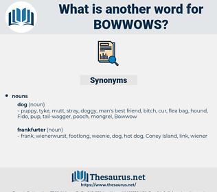 bowwows, synonym bowwows, another word for bowwows, words like bowwows, thesaurus bowwows