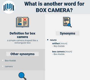 box camera, synonym box camera, another word for box camera, words like box camera, thesaurus box camera
