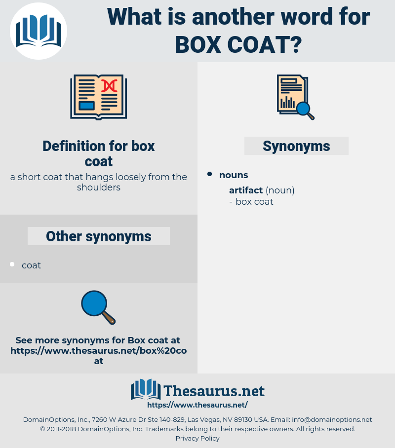 box coat, synonym box coat, another word for box coat, words like box coat, thesaurus box coat