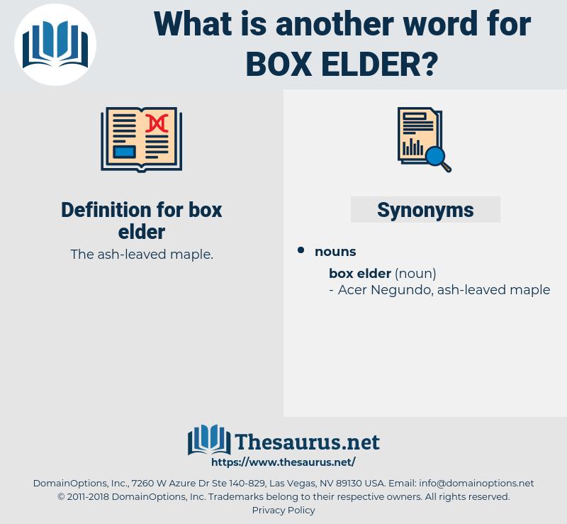 box elder, synonym box elder, another word for box elder, words like box elder, thesaurus box elder