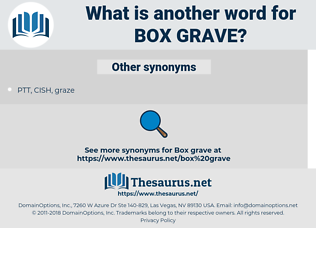 box grave, synonym box grave, another word for box grave, words like box grave, thesaurus box grave